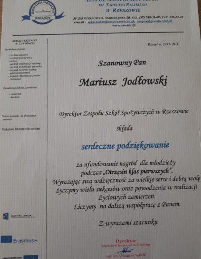 zespol_szkol_spozywczych_w_rzeszowie_podziekowanie