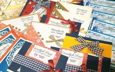 Ręcznie robione kartki Świąteczne przez Dzienny Dom Senior – Wigor w Zawadce
