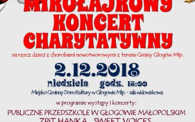 Mikołajkowy Koncert Charytatywny – na rzecz dzieci z chorobami nowotworowymi z terenu Gminy Głogów Młp.